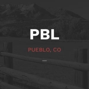 Mountain vista overlaid with Pueblo, CO